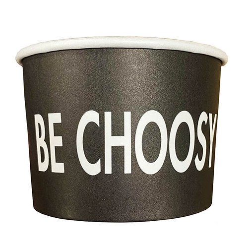 "8 oz ""Be Choosy"" Paper Bowls"