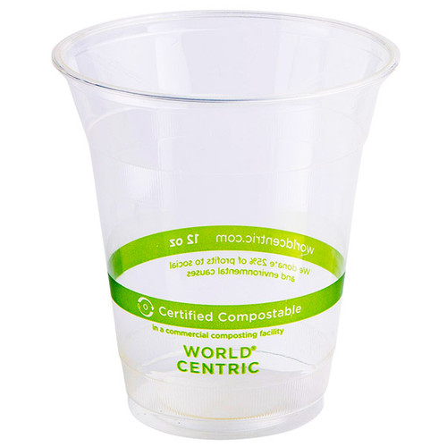 World Centric 12 oz custom printed cold cups