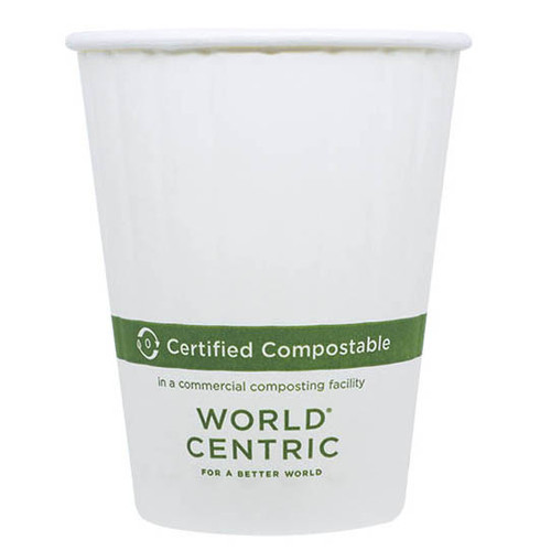 Custom Printed 12 oz Double Wall Compostable Hot Cup