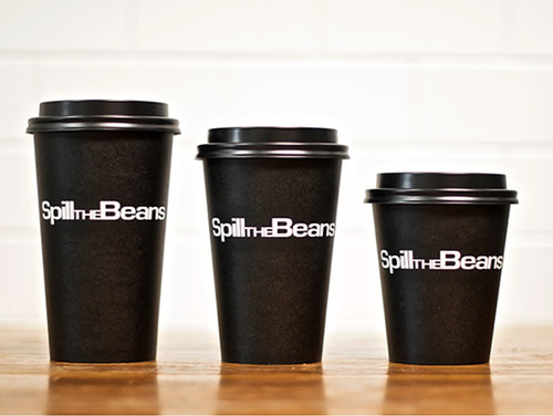 Logo coffee cups multiple sizes