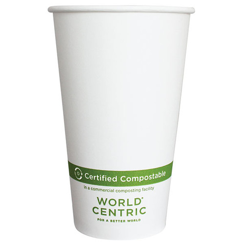 Custom Printed 16 oz Paper Compostable Coffee Cups
