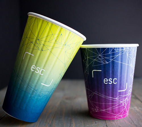 16 oz Custom Printed Compostable Coffee Cups Insulated