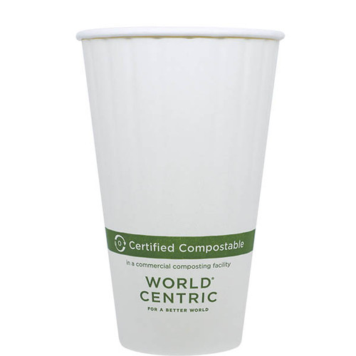 Custom Printed 16 oz double wall compostable coffee cups