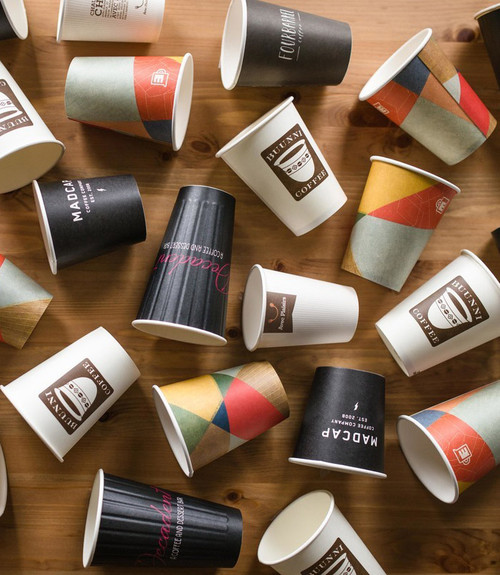 Custom Printed Compostable Coffee Cups