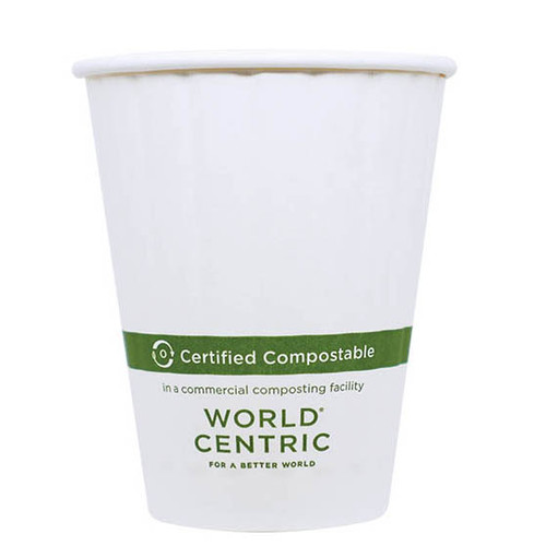 8 oz Double Wall compostable coffee cup custom printed