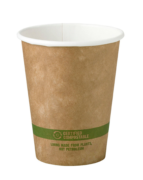 8 oz Kraft Compostable Hot Cup