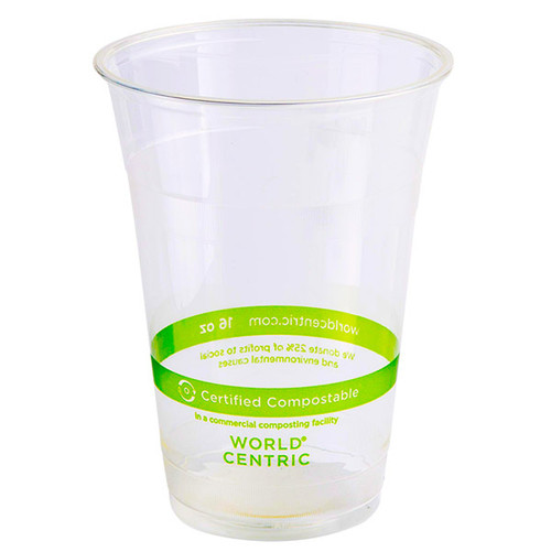 World Centric Custom Printed 16 oz Compostable Cold Cups