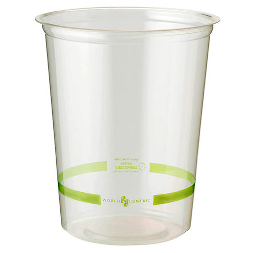 Custom Printed 32 oz Clear Round Deli Containers