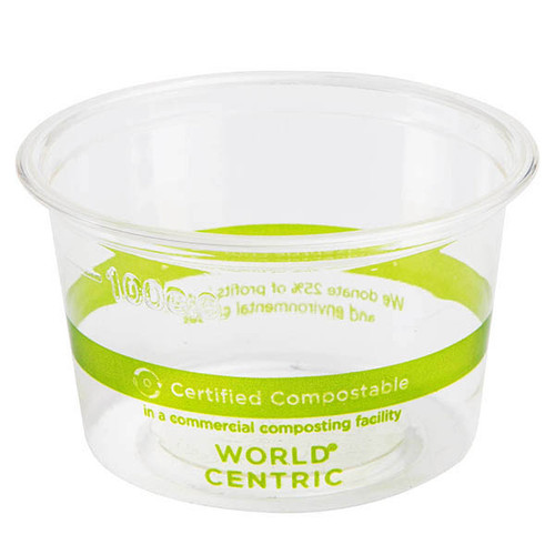 4 oz Custom Printed Compostable Portion Cup