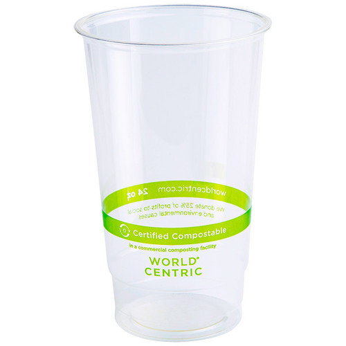 24 oz Compostable Cold Cup | PLA | Custom Printed
