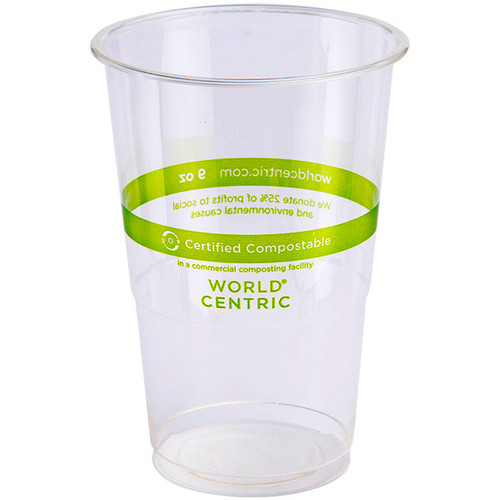 Custom Printed 9 oz Compostable Cold Cups