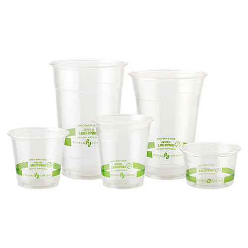 Custom Printed 9 oz Compostable Squat Cold Cups