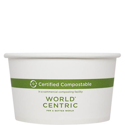 Custom Printed compostable 12 oz Paper Bowl