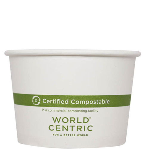 Custom Printed Compostable 16 oz Paper Bowls