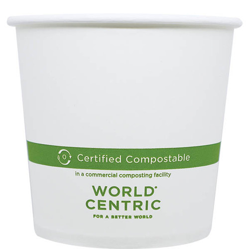 24 oz custom printed compostable bowl