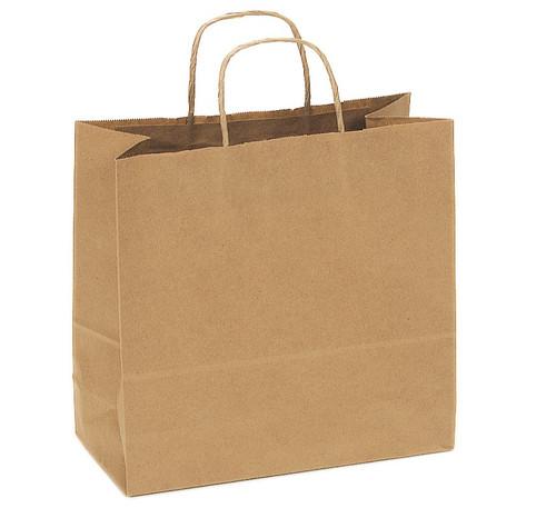 Kraft Recycled Shopping Bag | Custom Printed | 10 x 7 x 12 | 250 count