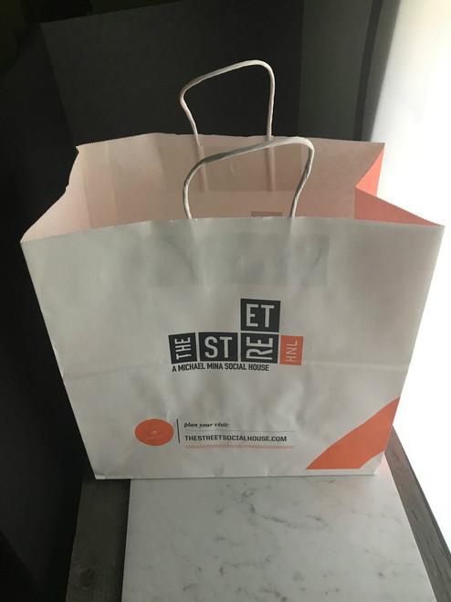 7cb9015bb ... 40% Recycled Shopping Bag |Custom Printed |8 x 4.75 x 10.25| 250 ...