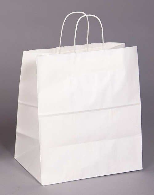 Custom Printed White recycled Paper bag