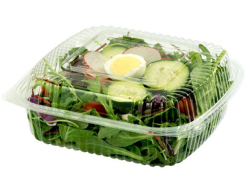 KL-CS-8   Compostable Plastic Clamshell Packaging