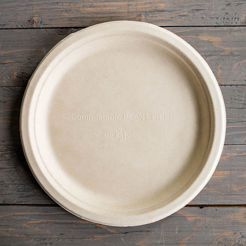 "Compostable 10"" Fiber Round Plates PL-SC-U10"