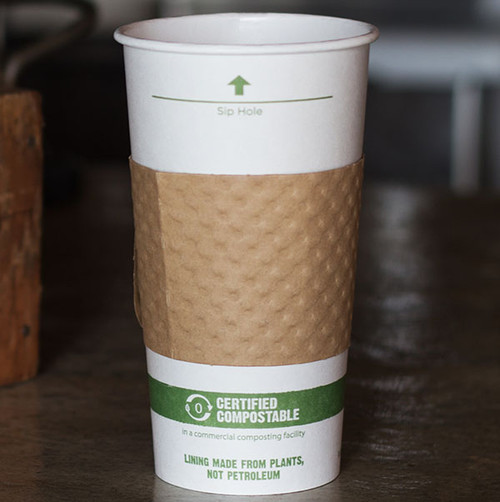 Recycled Paper coffee cup sleeves for 12-20 ounce cups 1100-LPN-S