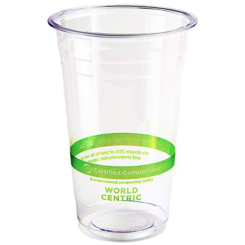 20 oz Compostable PLA Plastic Cold Cups CP-CS-20