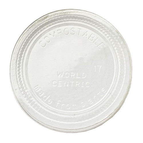 Lid for World Centric 2 oz Portion Cups CPL-CS-2S