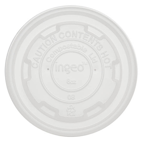 Compostable Soup bowl Lid for 8 oz BOL-CS-8