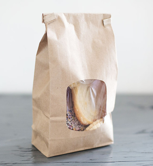 Natural Brown Kraft Bags with PLA windows