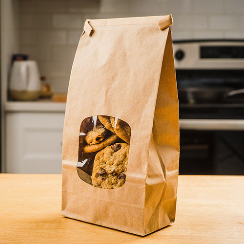 Natural Kraft Bags with PLA windows TN-4PLA