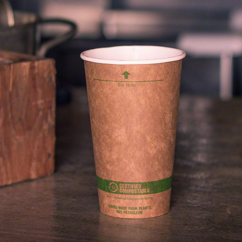 16 oz. Kraft Paper Cups | Compostable Hot Coffee Cups