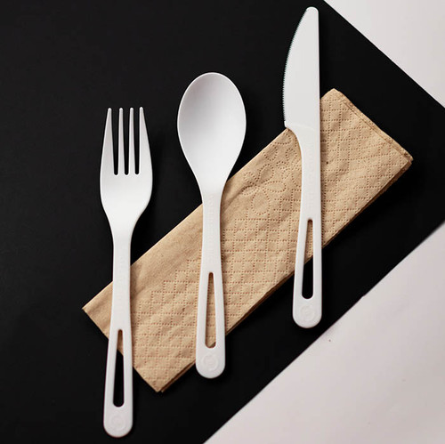"Individually Wrapped compostable 6"" Utensil Set AS-PS-TN"