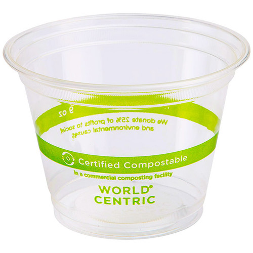 9 oz Squat Compostable Plastic Cups CP-CS-9Q