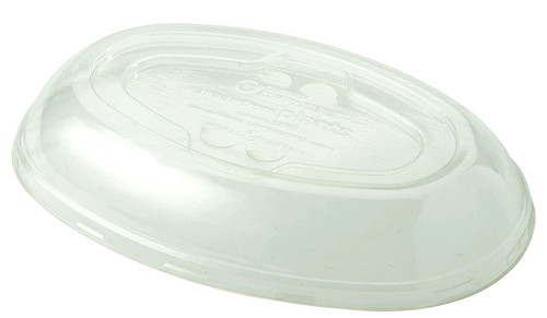 32 oz Burrito Bowl Lid | Compostable Plastic | Biodegradable PLA | 300 count