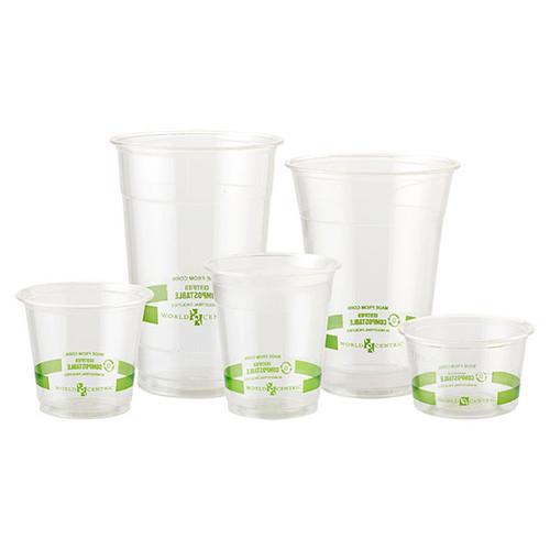CP-CS-10 - 10 oz  Compostable PLA Plastic Cold Cups