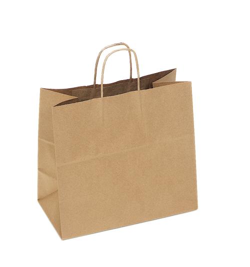 Recycled Kraft Shopping Bag, 13 x 7 x 13 | 250 count