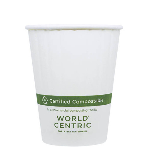 12 oz Double Wall Compostable Hot Paper Cups CU-PA-12D