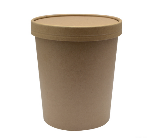 Ice Cream/Soup Container   With Lid   12 oz   Sample
