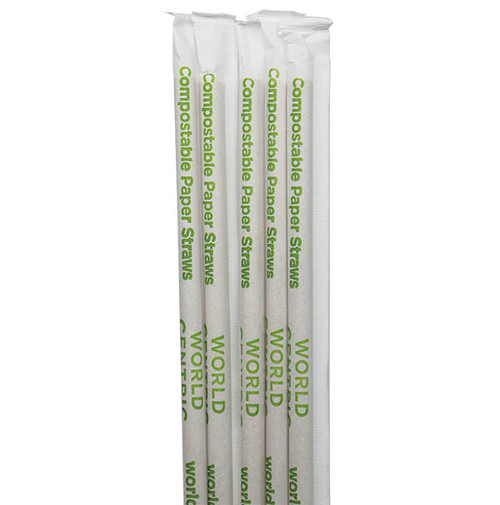 Wrapped Kraft Paper Straws ST-PA-8W-K