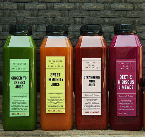 16 oz square plastic Juice Bottles