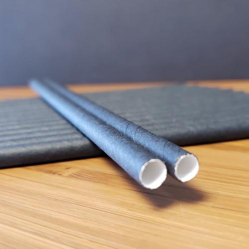 Black paper kids straws