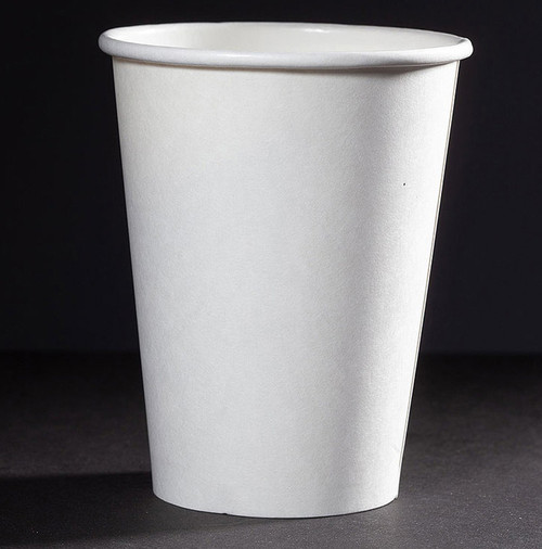 16 oz White Paper Compostable coffee cups CU-PA-16-GN