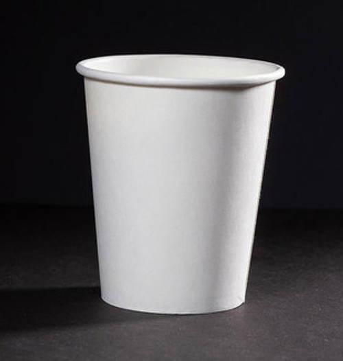 8 oz White Compostable coffee Cups CU-PA-8-GN