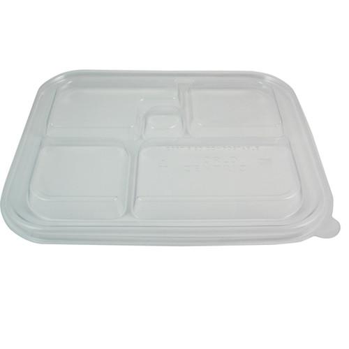 PLA Lid   Fits 5 Compartment Bento Box   300 count
