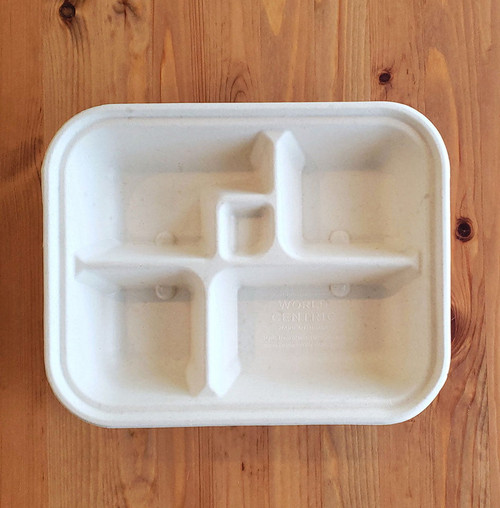 5 Compartment Bento Box | Fiber | Sample