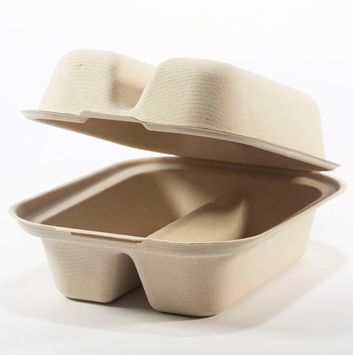 2 Taco Fiber Clamshell Containers TO-SC-T2