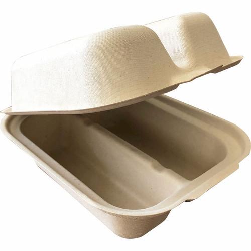2 Compartment Taco Fiber Clamshell Sample