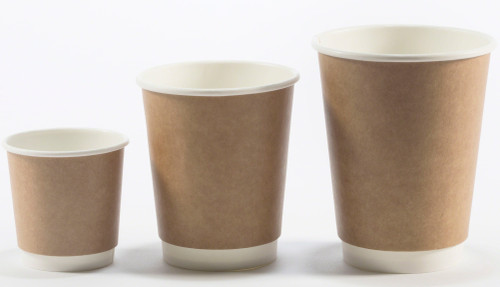 double wall kraft coffee cups