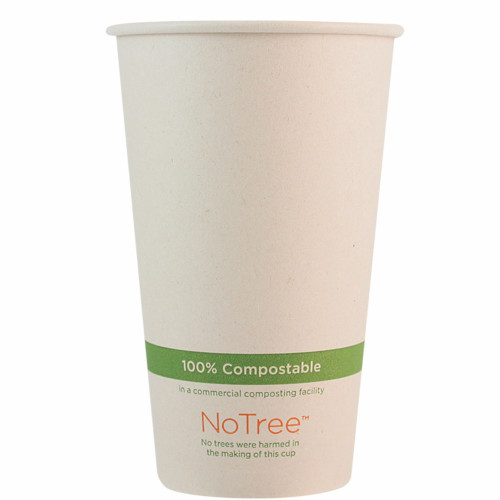 16 oz Compostable Hot Cup | 100% Sugarcane | 1000 Count