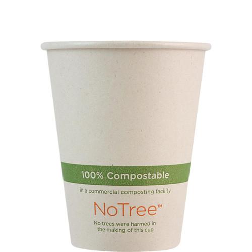 8 oz Compostable sugarcane coffee cup CU-SU-8